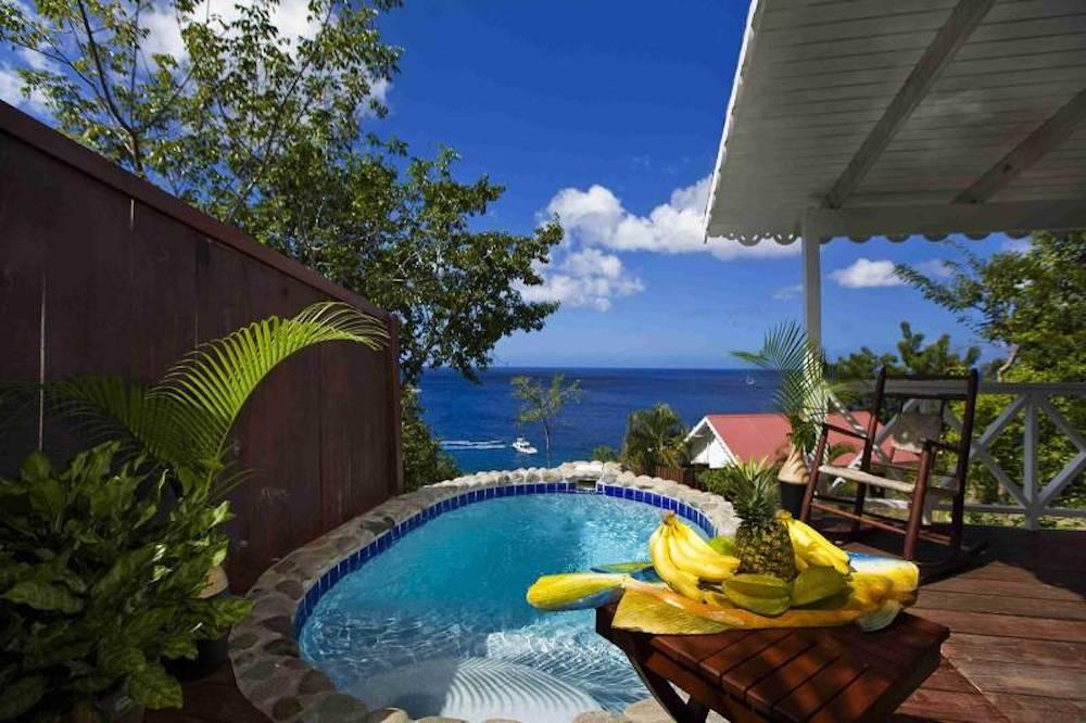 Caribbean - St Lucia, Anse La Raye - Ti Kaye Resort & Spa plunge pool