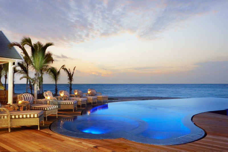 Thanda Island - Villa Pool At Dusk