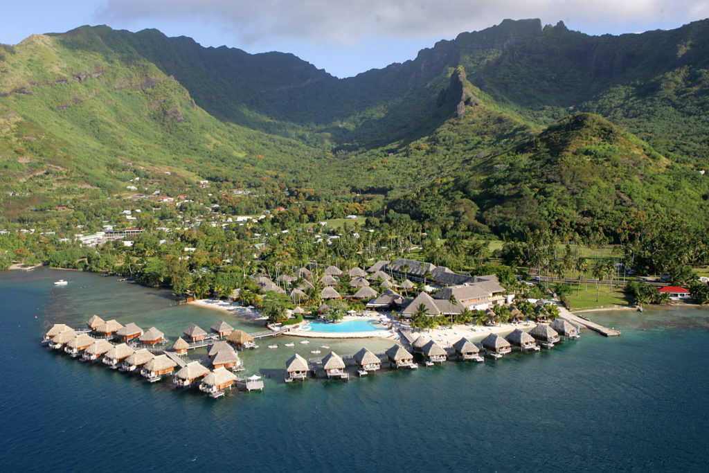 French Polynesia Islands - Moorea - 1572 - Manava Beach Resort & Spa aerial